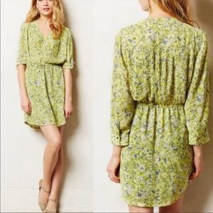 Anthropologie Maeve Dress Yellow Floral Print